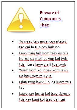 text box in hmong