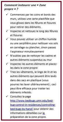 Text box of instructions in French